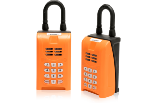 A set of Rently Lockboxes with shackle and keypad